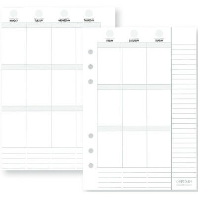Planner Essentials Double Sided Inserts A5 72/Pkg Weekly Vertical PE4948