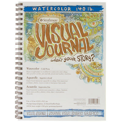 """Strathmore Visual Journal Watercolor 9""""X12"""" 22 Sheets 460590"""