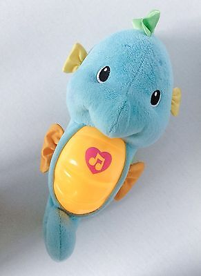 Fisher-Price Blue Seahorse Musical Soothe Glow Light Plush Infant Toy