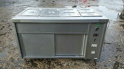 Stainless Steel Commercial Hot Cupboard With Dry Bain Marie warmer