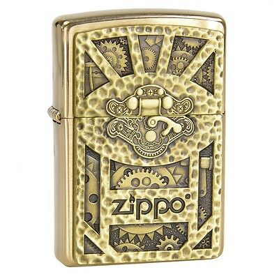 Personalised Steampunk Box Emblem Regular Zippo Lighter Engraved Free