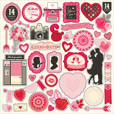 """Blowing Kisses Cardstock Stickers 12""""X12"""" Element BKS98014"""
