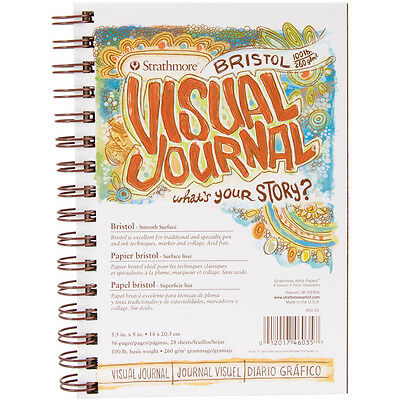 "Strathmore Visual Journal Bristol Smooth 5.5""X8"" 28 Sheets 460350"