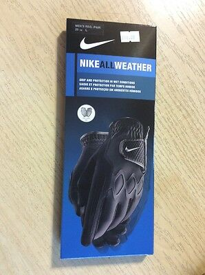 Nike All Weather Pair Of Golf Gloves Large Black