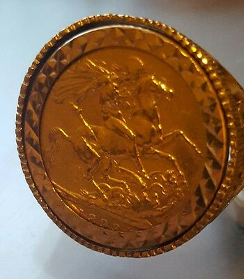 Gold Sovereign Full Coin 1893 Queen Victoria ring