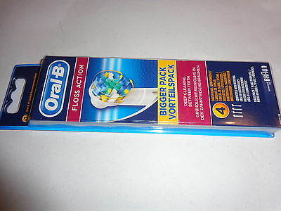 Oral-B,braun,floss Action,replacement Toothbrush Heads, 4X Heads,new,free Uk Pp,