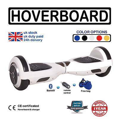 2017 Swegway Electric Self Balance Scooter Hover Board Bluetooth Speaker LED