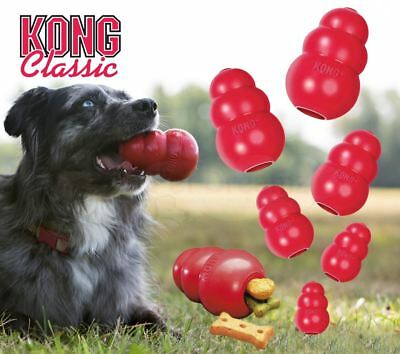 KONG Classic Red Rubber Dog Chew Toy – XS SMALL MEDIUM LARGE XL XXL