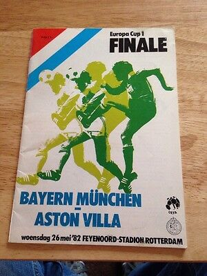 1982 European Cup Final ASTON VILLA v BAYERN MUNICH UEFA Edition In Exc Cond