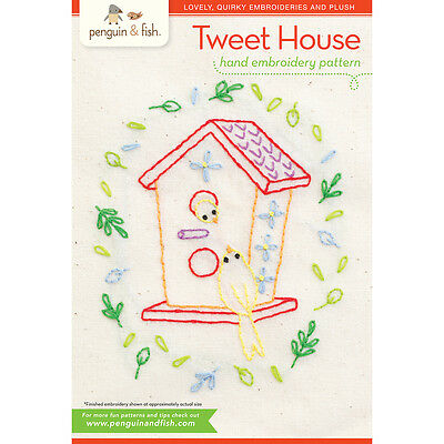 Penguin & Fish Embroidery Patterns Tweet House PF-PATTH