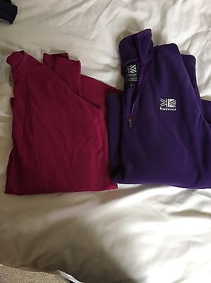 Ladies Helly Hansen Base Layer Top And Fleece 8-10