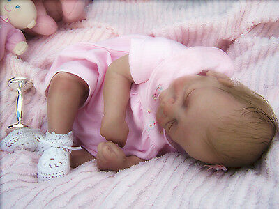 Lot of 3 Pairs WHITE Baby Doll Booties w/headbands - Reborn Dolls