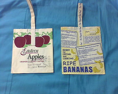 2 Vintage Grocery store Bags