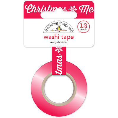 Here Comes Santa Claus Washi Tape 15Mmx12yd Merry Christmas HCSC5330