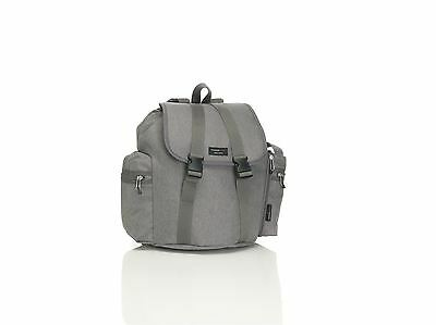 Storksak Travel Grey Baby Changing Bag Backpack