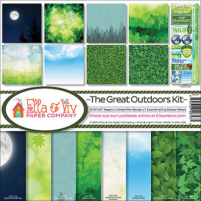 "Ella & Viv Collection Kit 12""X12"" The Great Outdoors EAV797"