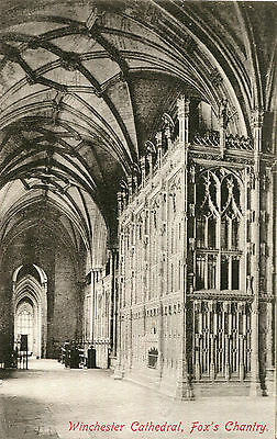 Original 1900s Postcard Fox's Chantry WINCHESTER Cathedral Hampshire
