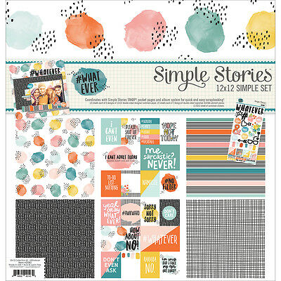 """Simple Stories Simple Sets Collection Kit 12""""X12"""" #Whatever W2080"""