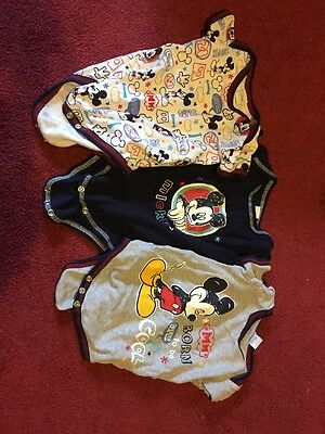 mickey mouse disney Baby Vest Bundle 6-9 Months