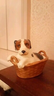 ROYAL DOULTON - Terrier Puppy in a Basket