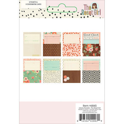 The Reset Girl Library Pockets W/Cards 8/Pkg  RG6845