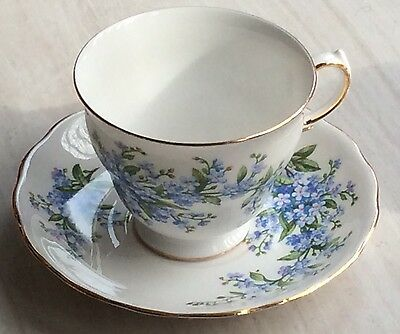 Queen Anne Bone China Forget Me Not Design 11 Piece Set