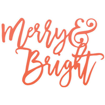 Merry & Bright Acrylic Title Merry & Bright MB2720