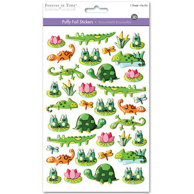 Multicraft 3D Puffy Foil Stickers Pond Pals SS058C
