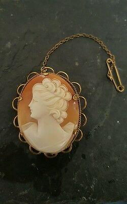 antique cameo brooch 12 ct gold