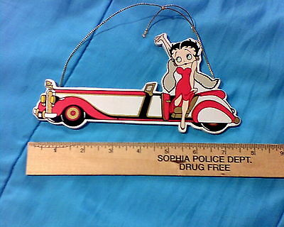 Betty boop Painted wood Plaque 1995