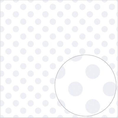"Bazzill Printed Acetate Dots Sheets 12""X12"" White ACEDOT12-529"
