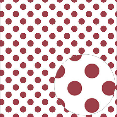 "Bazzill Printed Acetate Dots Sheets 12""X12"" Pomegranate ACEDOT12-531"