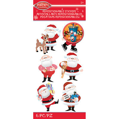 Rudolph The Red Nosed Reindeer Stickers Santa E5306015