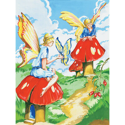 """Junior Small Paint By Number Kit 8.75""""X11.75"""" Flower Fairies PJS-20"""