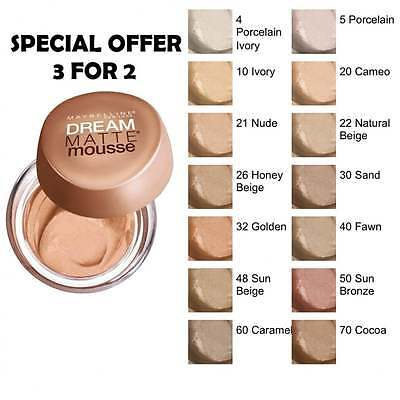 Maybelline Dream Matte Mousse Foundation - 050 Sunbronze