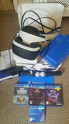 Sony PS4 VR Complete Kit - Camera + 2 Move Controllers + 4 Games. ALL BOXED!