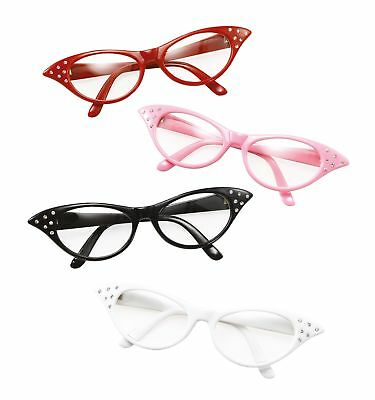New Red Classic 1950's Rockabilly Glasses