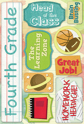 Cardstock Stickers Fourth Grade KFS-ST-11524