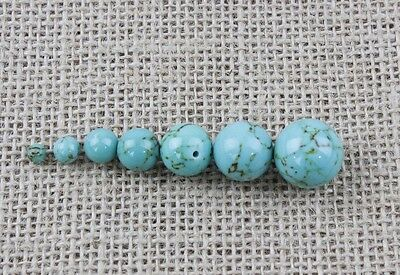 20 Turquoise Gemstone Crystal Round Beads 4mm-16mm - Jewellery[BUY 3 GET 3 FREE]