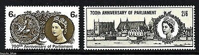 "GB Stamps 1965 ""700th Anniversary of Parliament"" sg663-664 - U/M"