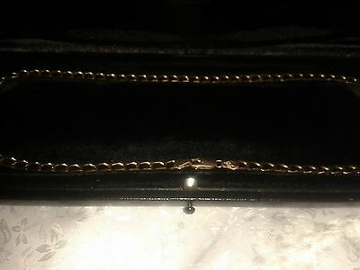 Vintage 9ct Gold Curb Chain 18ins. 8.5 grams.