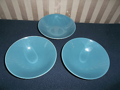 Poole Pottery Blue Moon Cereal/ Soup Bowls x  3
