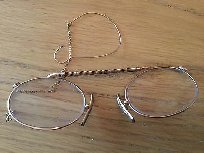 Gold Pince Nez Spectacles