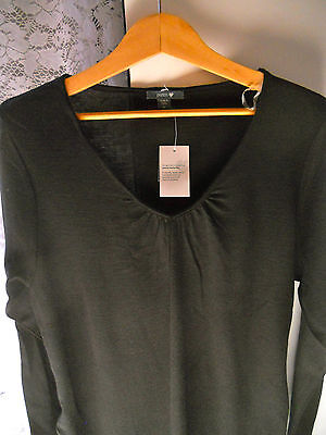 Ladies Patch Maternity merino wool v neck long top sweater Size XS  S  M  L BNWT