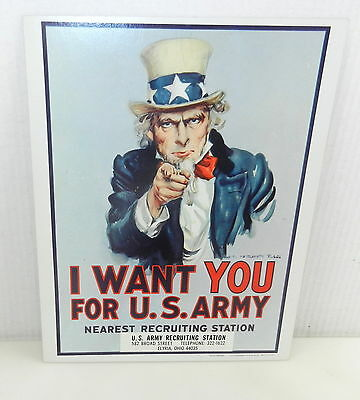 UNCLE SAM I Want You For U.S. ARMY Poster 1968 James Montgomery FLAGG Recruiting