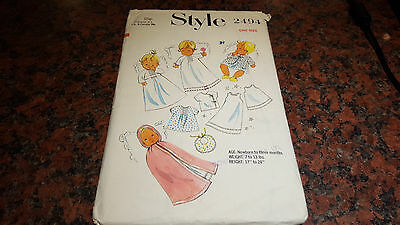 Vintage Style Sewing Pattern 2494 Baby layette up to 3 months
