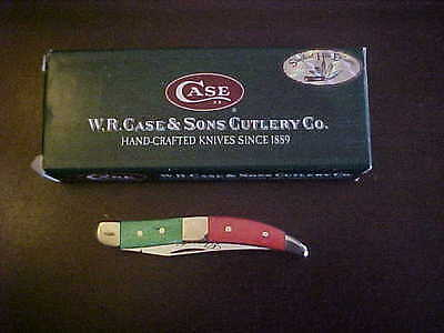 Case Xx Elegante Red/green Tiny Toothpick Knife New In Box