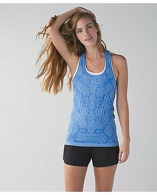Lululemon NWT size 4 Snake Print Pipe Dream Blue Swiftly tank