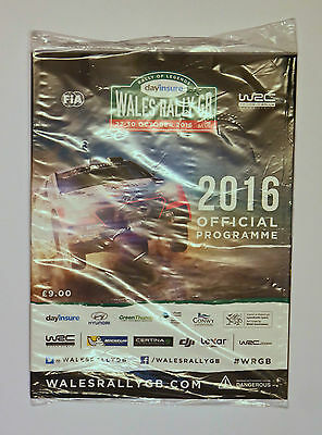 Wales Rally GB 2016 Official Event Programme Unopened