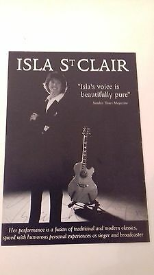 signed paper flyer of Isla St Clair . addressed to Gordon